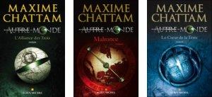 Couverture des trois premiers tomes de la série Un autre monde