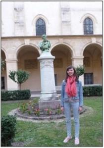 Laure Héraly, lauréate du concours CICERO, au lycée Henri IV le 26 septembre dernier.