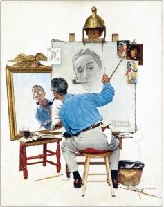 The Triple Self-Portrait de Norman Rockwell