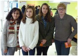 De gauche à droite Nora Benhamia, Bénédicte Lapierre, Elodie Tarradel et Clothaire Bocquet