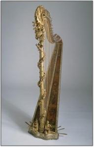 Harpe par J. H. Nadermann (1735-1799) , maître luthier de Marie-Antoinette