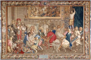 Visite de Louis XIV à la Manufacture des Gobelins. Photograpphie personnelle prise au palais des beaux arts d'Arras.